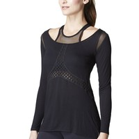 Michi Sirena Top - Black | Luxury Workout Top