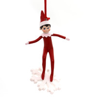 Holiday Ornaments Elf On Shelf Snowboarding Resin Ornament