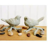 Decorative Cast Iron Birds - Choose Your Color - Colorful Cast and Crew