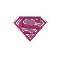 Supergirl Glitter Logo Iron-On Patch