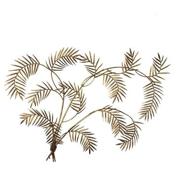 Pre-owned Vintage Gilded Palm Frond Wall Art