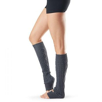 toesox - Knee High Leg Warmer | Charcoal