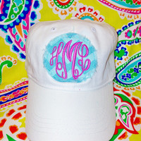 BOY or GIRL chevron monogrammed hat by FabulouslySouthern on Etsy