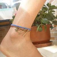 Disney Brave Inspired Prince Merida Arrow and Bird Anklet / Leather