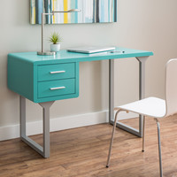 Retro Turquoise and Grey Writing Desk | Overstock.com Shopping - The Best Deals on Desks