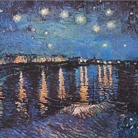 Vincent Van Gogh Starry Night Over Rhone Poster 24x36