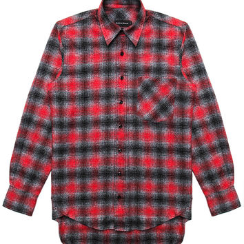 Raised By Wolves - Mammoth L/S Button-Up Shirt (Red Plaid)