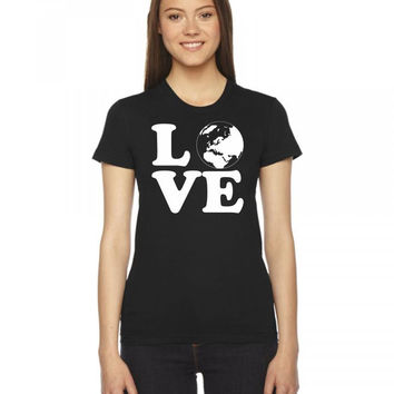 love world  1 color 1 Ladies Fitted T-Shirt