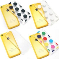 Bargain Bulk Pack of iPhone 5c Cases. Etui Le Bon (tm) case for iPhone 5C. Includes the following iPhone 5c cases. 1 x Clear iPhone 5c case, 1 x Multi colored Polka Dots iPhone 5c case, 1 x Black Polka Dots iPhone 5c case and 1 x White Polka Dots iPhone 5c