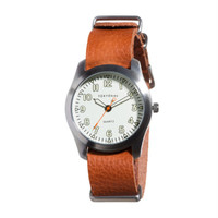 Basic Leather Watch -Tan