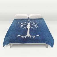 The White Tree Duvet Cover by Jackie Sullivan