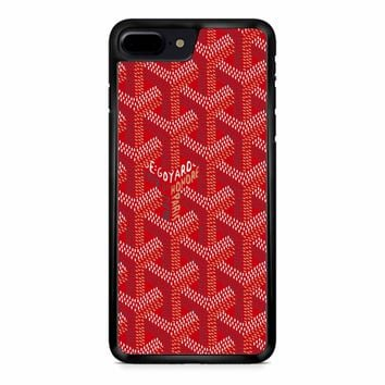 Goyard Red Pattern iPhone 8 Plus Case