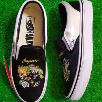 Vans X Rollicking Old Skool Canvas Embroidery Flats Sneakers Sport Shoes