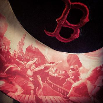 Boston Red Sox New Era Snapback or Fitted Cap with Custom Imaging on Bill. The Gift For The Person Who Has Everything!