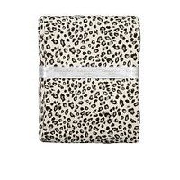 Kardashian Kids Girls Leopard/Star Print Reversible Cotton Receiving Blanket