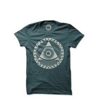 The Moon Life - Isle of Everywhere Tshirt - Military Green