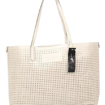Marc by Marc Jacobs Metropolitote Perforated Cream Tote