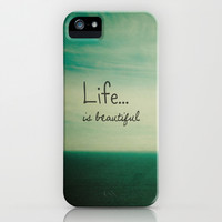 Life is Beautiful iPhone & iPod Case by Olivia Joy StClaire