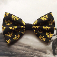 The Legend of Zelda Hylian Crest Triforce Inspired Hair Bow or Bow Tie