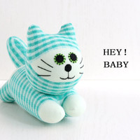 Handmade  Stuffed cat baby FOR KIDS  Stuffed Animal  BABY  Plush Toy  sock doll  4#  Ready to Ship