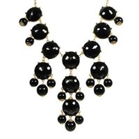 Amazon.com: big black facets Bubble Statement Necklace, Chunky Bubble Necklace,Bubble black NecklaceWP-B132: Jewelry
