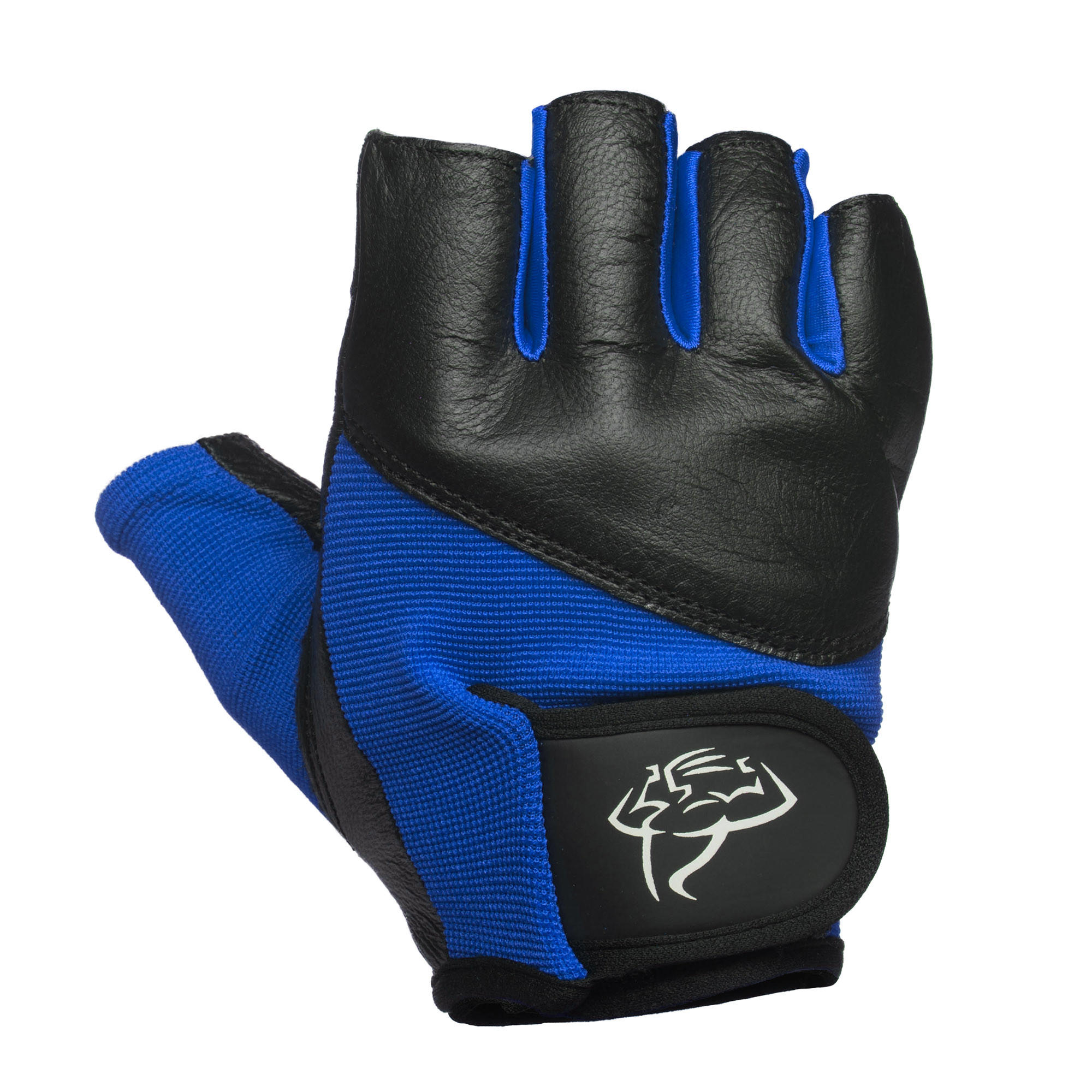 Black Leather Weight Lifting Workout Gloves: Mens Weight Lifting Gloves / Fingerless From Exercise