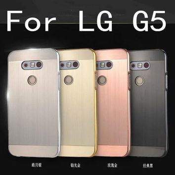 ONETOW Luxury Aluminum Metal case For LG G5 Hard gold Mirror Hybrid Protective back cover for lg g5 phone housing shell