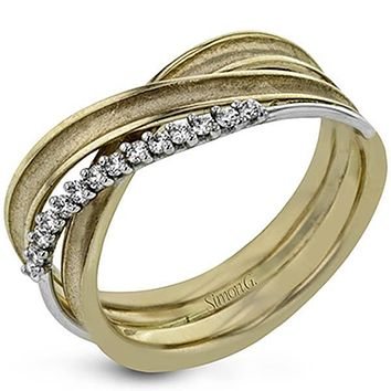 Simon G. 18k Yellow Gold Right Hand Diamond Ring