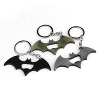 New Arrival Superman Batman Keychain Beer Bottle Opener Alloy Superhero Batman Figure Comics Key Chain Ring Key Holder Souvenirs