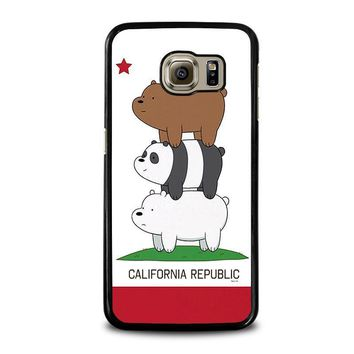 we bare bears california republic samsung galaxy s6 case cover  number 1