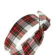 FOREVER 21 Rustic Plaid Wire Headwrap Cream/Red One