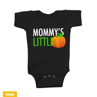 Halloween Cute Infant Lap Shoulder Bodysuit - Mommy's Little Pumpkin - Infant Lap Shoulder Bodysuit