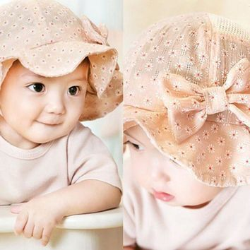 PEAP78W Cute Baby Hat Toddler Infant Sun Cap Summer Cotton Blends Baby Girl Floral Hats Sun Beach Casual Bucket Baby Hat