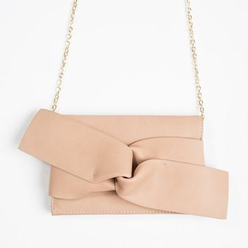 Kori Tan Knot Clutch
