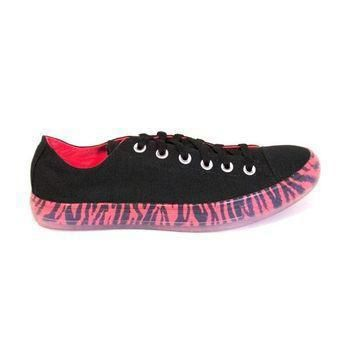 converse chuck taylor low animal print bright black sneaker