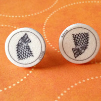 Game of Thrones Stark Earrings