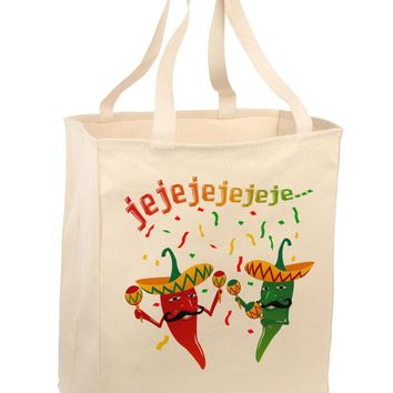Jejeje Mexican Chili Peppers Large Grocery Tote Bag