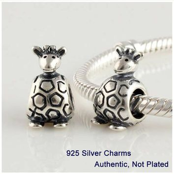 CKK Giraffe Charms Solid 925 Sterling Silver Beads for Jewely making Fit Charm Bracelets & Necklace Diy Free shipping PW062