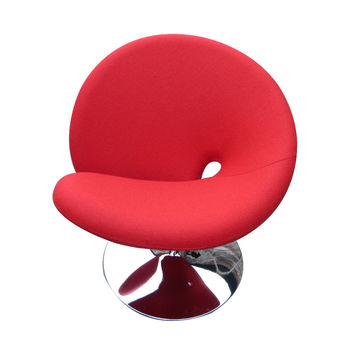 Swirly Swivel Chair in Red