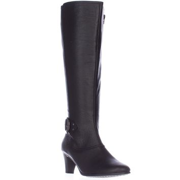 Aerosoles Incredible Expandable Calf Knee-High Boots, Black, 8 US