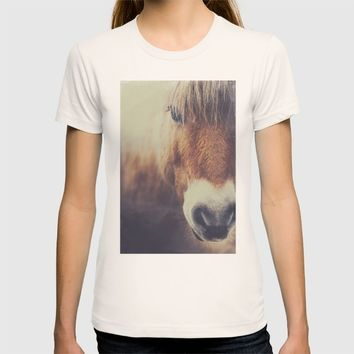 The curious girl T-shirt by HappyMelvin | Society6