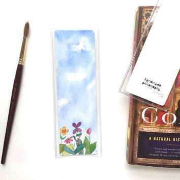 Springtime Bookmark (original watercolor painting)