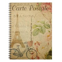 French Postcard Notebook