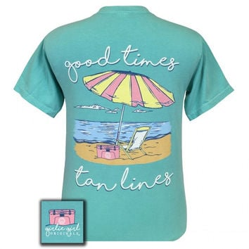 Girlie Girl Originals Preppy Good Times Beach Comfort Colors T-Shirt