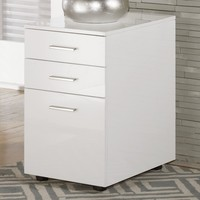 Baraga Full Gloss White File Cabinet with Casters by Signature Design by Ashley at Gardiners Furniture