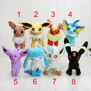 20cm Pocket Plush Toys Umbreon Eevee Espeon Jolteon Vaporeon Flareon Glaceon Leafeon Soft Stuffed Animals Doll