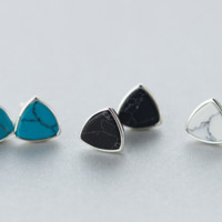 Elegant triangle turquoise earrings + Gift box ALQ1023E