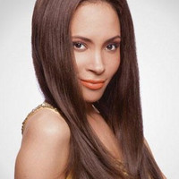 Long Human Hair Straight Lace Front Wig