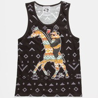 Riot Society Tribal Panda Giraffe Mens Tank Black  In Sizes