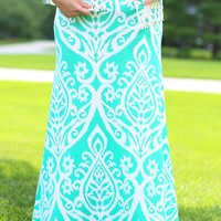 Untoile Forever Maxi Skirt in Mint - Curvy